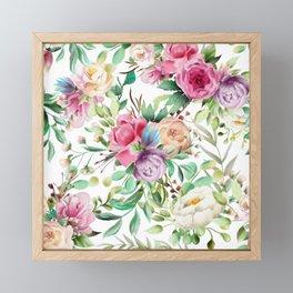 Flirty Florals Framed Mini Art Print