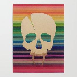 Rainbow Skull Poster