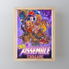 80s Assemble Framed Mini Art Print