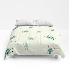 Mid Century Stars Retro Vintage Pattern Comforters