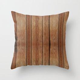 wood 3 Throw Pillow
