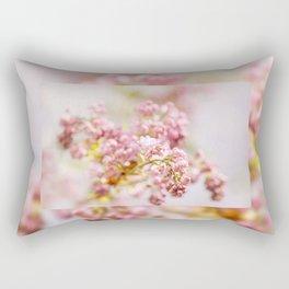 purple Syringa vulgaris or lilac buds Rectangular Pillow