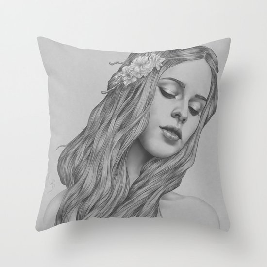 Patience - a digital drawing Throw Pillow