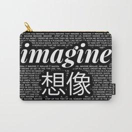 imagine - Ariana - lyrics - imagination - black white Carry-All Pouch