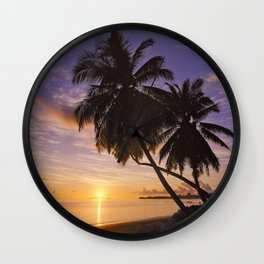 sunset on Praslin Wall Clock