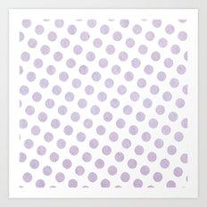 Polka Dots Watercolor Art Art Print