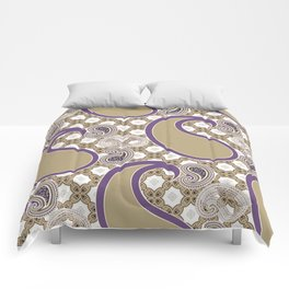 Chain 'em in Purp Comforters