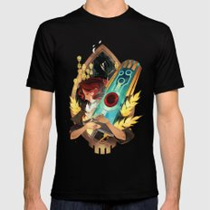 Like It's Written in the Stars - Transistor Black MEDIUM Mens Fitted Tee