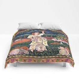 Wine Harvest Maiden Comforters