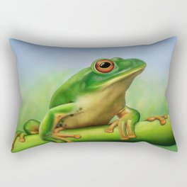 Moltrecht's Green Treefrog Rectangular Pillow