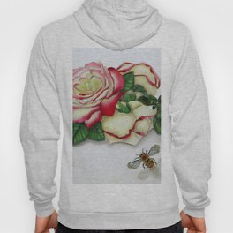 French Perfume Rose Swag Bee Art Hoody