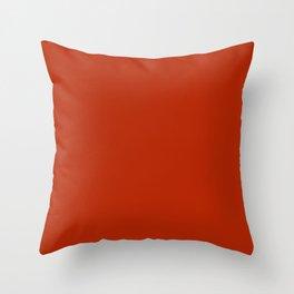 Colors of Autumn Copper Orange Solid Color - Dark Orange Red Throw Pillow