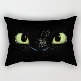 HTTYD Toothless Fiery Eyes Rectangular Pillow