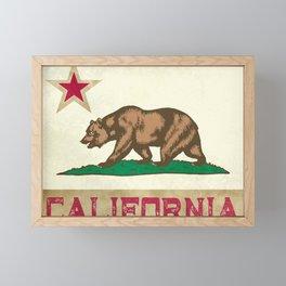 Vintage California Flag Framed Mini Art Print