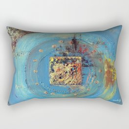 Of the Earth 4 by Nadia J Art Rectangular Pillow