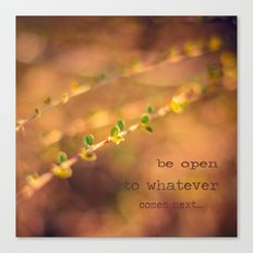 Be open to whatever comes next Canvas Print
