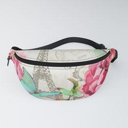 Paris Flower Market garden art Fanny Pack