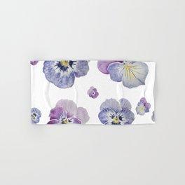 Watercolor Pansy Pattern Hand & Bath Towel
