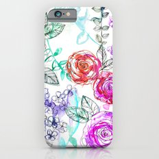 Pastel Rose Garden 02 iPhone 6s Slim Case
