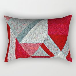 Pink, Red and Grey Rectangular Pillow