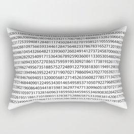 1000 digits of Pi (White) Rectangular Pillow