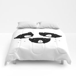 Black Bears Comforters