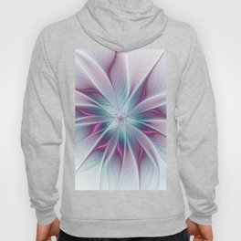 Floral and Luminous, abstract Fractal Art Hoody