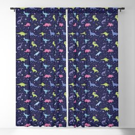 Dinosaurs in Space Blackout Curtain