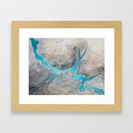 Sedimentary Topography Extended 2 Framed Art Print