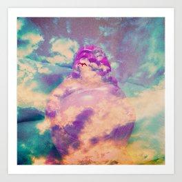 Buddha in the clouds Art Print