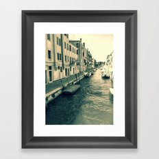 Venezia, where my heart is Framed Art Print