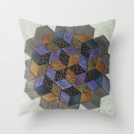 Tumbling Blocks #4 Throw Pillow