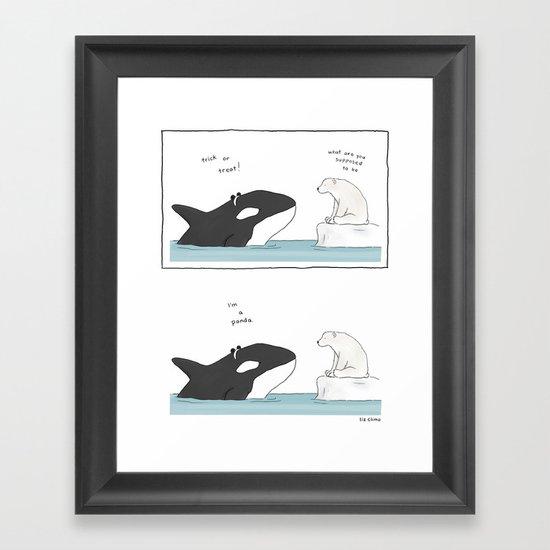 Panda Whale  Framed Art Print