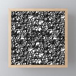 Graffiti Pattern | Street Art Urban Graphic Framed Mini Art Print