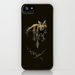 Amber Maned Wolf iPhone Case