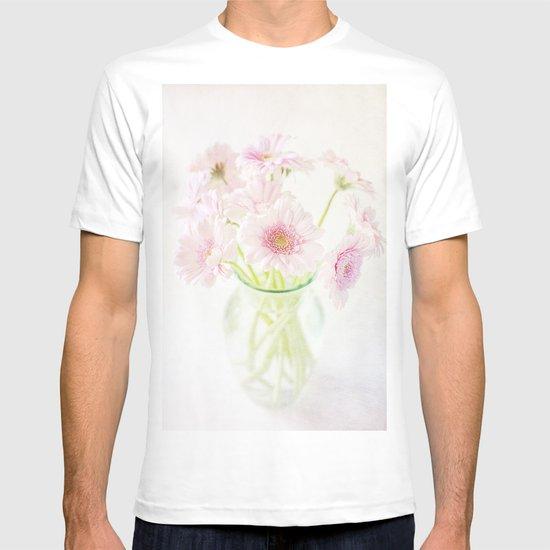 Pink Gerberas In A Vase {Light Textured Version} T-shirt