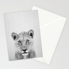 Lioness II - Black & White Stationery Cards