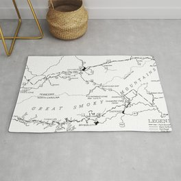 Map of The Great Smoky Mountains National Park (1996) Rug