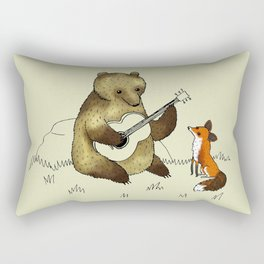 Bear & Fox Rectangular Pillow