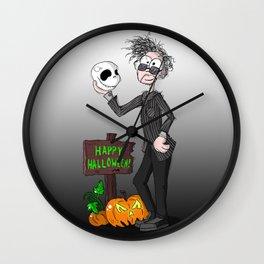 Tim Burton cartoon caricature Wall Clock