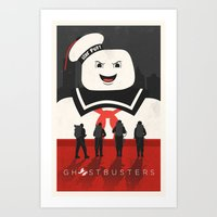 ghostbusters Art Prints featuring Ghostbusters by Bill Pyle