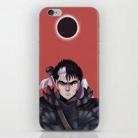 berserk iPhone & iPod Skins featuring Guts Berserk by Kurodoj