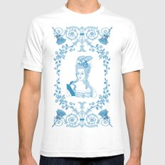 Marie-Antoinette Monogram (Aqua) SMALL Mens Fitted Tee White