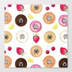 Donut Pugs Canvas Print