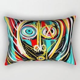 Blue heart Street Art Graffiti Rectangular Pillow