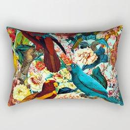 FLORAL AND BIRDS XV Rectangular Pillow