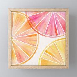 Summer Citrus Party Framed Mini Art Print