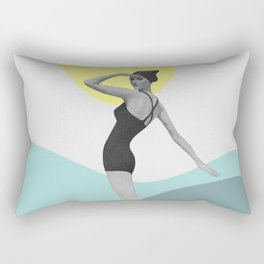 Swimmer Collage Rectangular Pillow