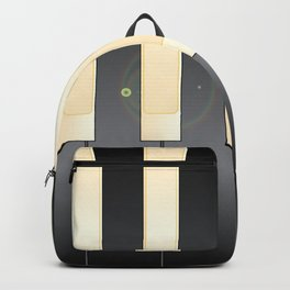 White And Black Piano Keys Backpack