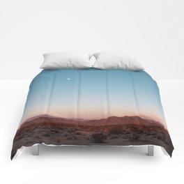 Desert Sky with Harvest Moon Comforters